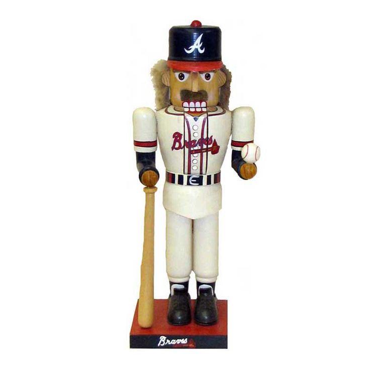 Kurt Adler MLB Braves Baseball Player Nutcracker - MB0013BRV