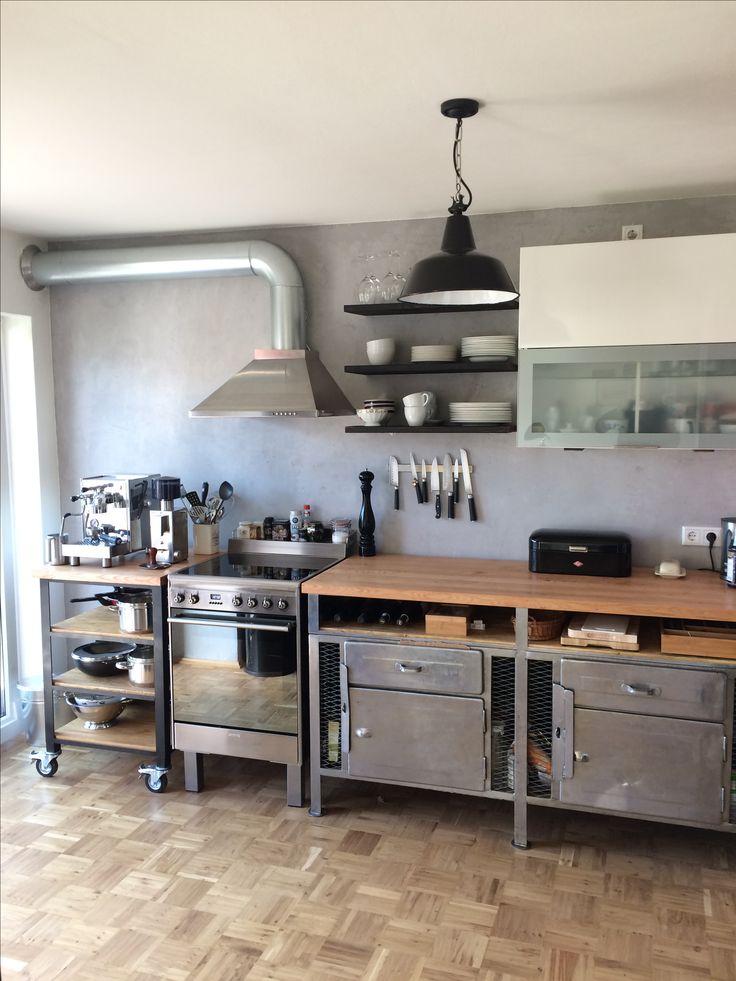 Pin auf Küche Industrial Design / Werkbank / Beton