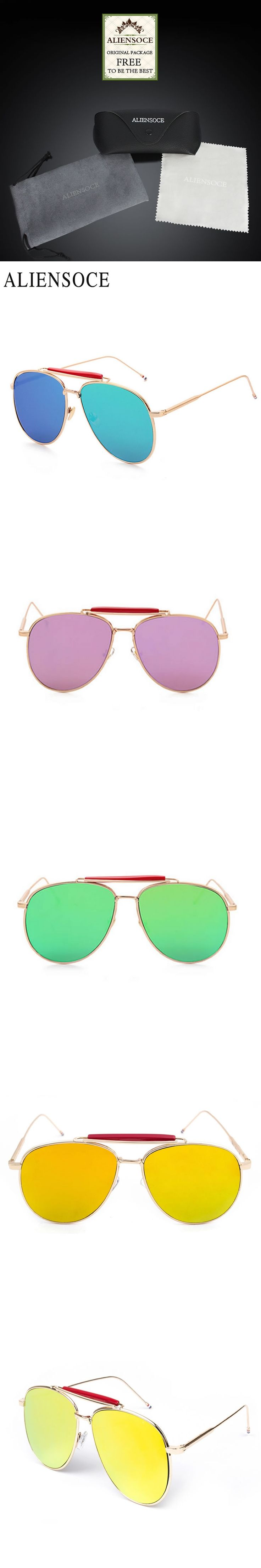 New York Brand Thom Browne Classic Sunglasses TB015 Sunglasses for Men and Women Pilot Mirror Coating Metal Aviator Sun Glasses