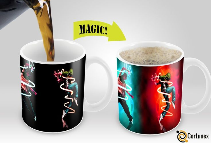 Lovely Magic Coffee Mugs Heat Sensitive Color Changing Coffee Mug Good Gift Mug 3  Dancers Magic Mug