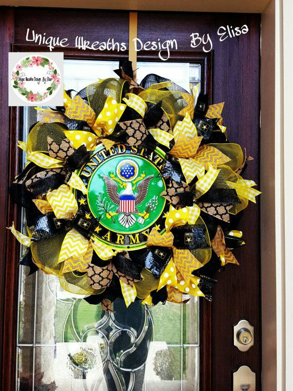 Hey, I found this really awesome Etsy listing at https://www.etsy.com/listing/211798516/army-wreath-us-army-wreath-military