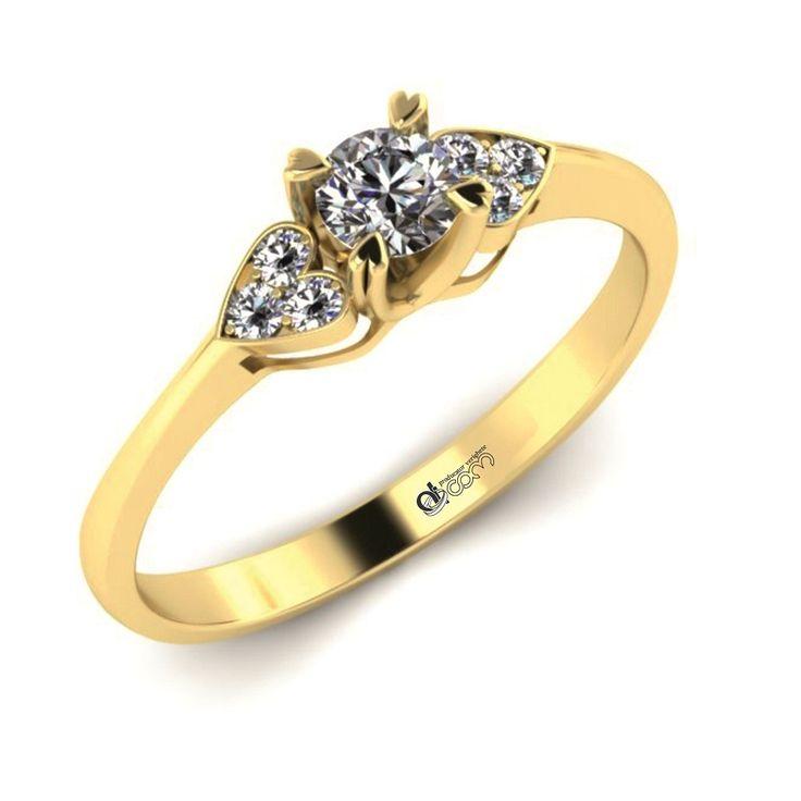 Inel de logodna ATCOM Lux cu diamant Nistor aur galben