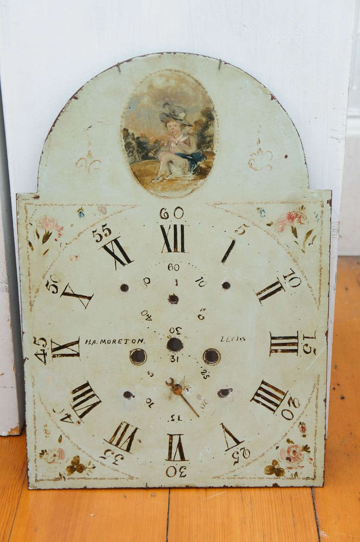 22 best english grandfather clock painted dials images on three english painted metal break arch clock faces amipublicfo Image collections