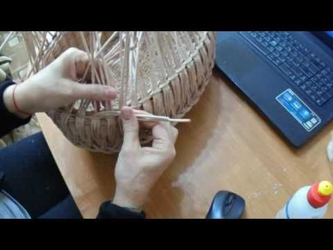 мк ажурной корзины часть 2 - YouTube