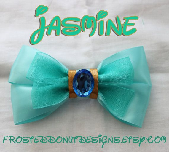 Disney's Jasmine from Aladdin Inspired Bow by FrostedDonutDesigns, $9.00