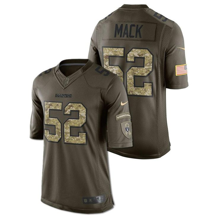 Khalil Mack - Oakland Raiders Salute to Service Jersey (Green)