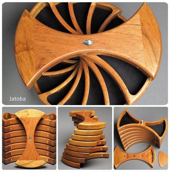 Rotating Jewelry Box Secret Compartments Functional By Watswood. GeheimfachSchellackAbalone  MuschelEinzigartigen SchmuckHidden ...
