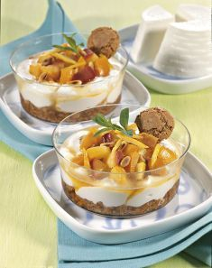 Crema di ricotta al miele con macedonia - Tutte le ricette dalla A alla Z - Cucina Naturale - Ricette, Menu, Diete