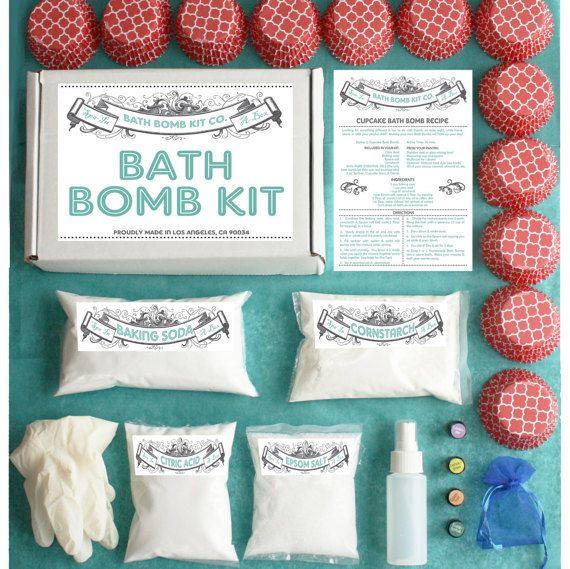 Bath Bomb Making Kit with 100% Pure Therapeutic by welovekombucha