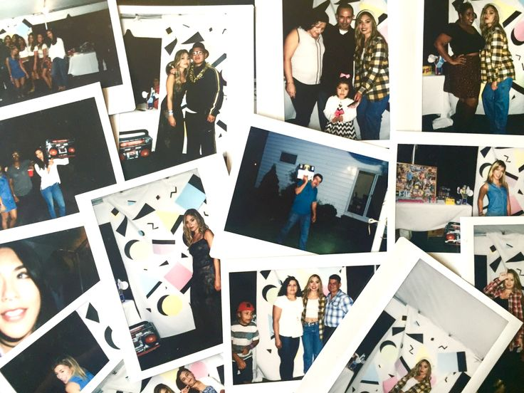 90's party - Polaroids are a must have!!! Just provide black sharpie's for people to write on them and even take them home as a favor. Ask around if any friends have a Polaroid camera before spending money on one, it's worth it!