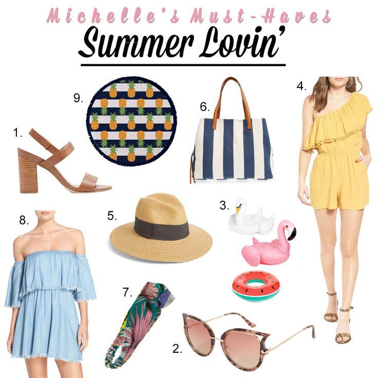 Michelle's Must-Haves: Summer Lovin'  http://openhartz.com/home/2017/7/12/michelles-must-haves-summer-lovin