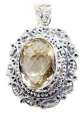 enticing Citrine 925 Sterling Silver Yellow Pendant jaipur US gift