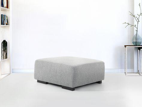 Hocker grau - Ottomane - Sitzhocker - Sitzwürfel - Fußhocker - Stoff - LUNGO