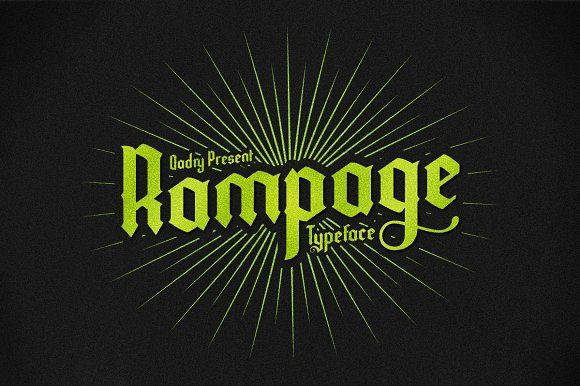 Rampage Font by Qadry on @creativemarket