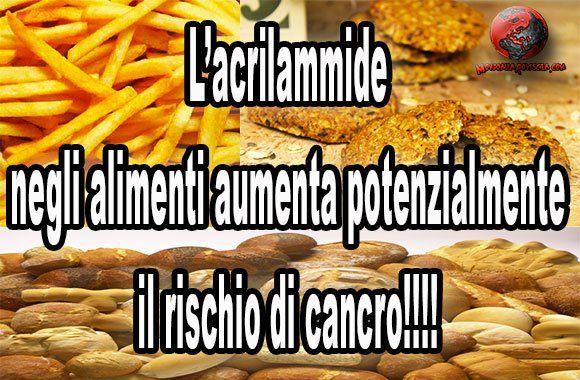 """Allarme acrilammide, NESSUNO NE PARLA CONDIVIDETE!!!! Patatine, biscotti e pane a rischio cancro:http://bit.ly/1tATBvQ L'acrilammide negli alimenti è prodotta dalla stessa reazione chimica che conferisce al cibo la """"doratura"""", rendendolo anche più gustoso, durante la normale cottura ad alta temperatura (+150°C) in ambito domestico, nella ristorazione e nell'industria alimentare."""