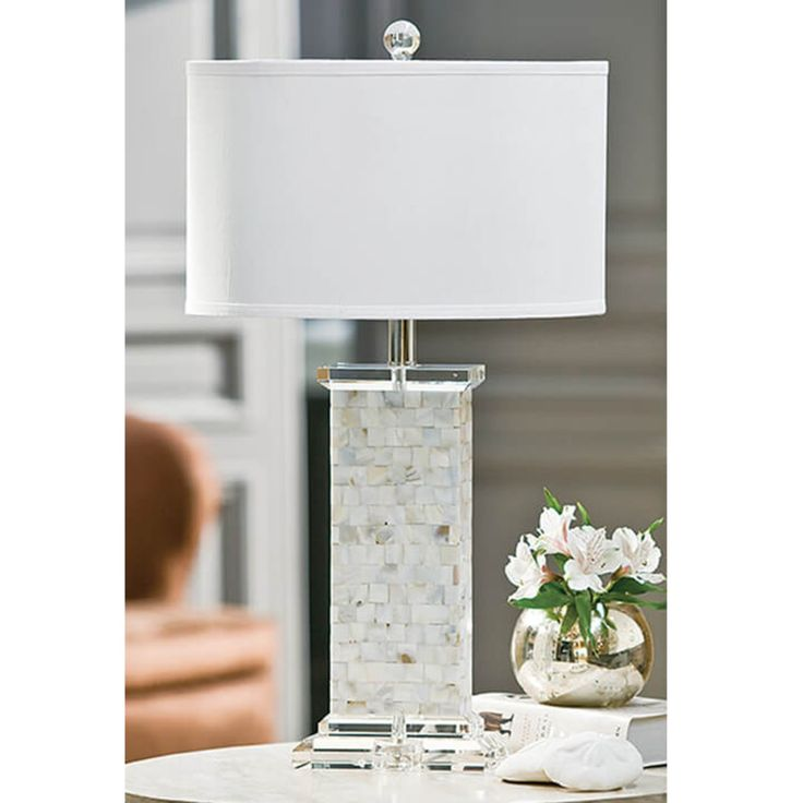 Regina Andrew Design Mother of Pearl Square Column Table Lamp