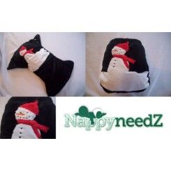 Snowman hand guided applique