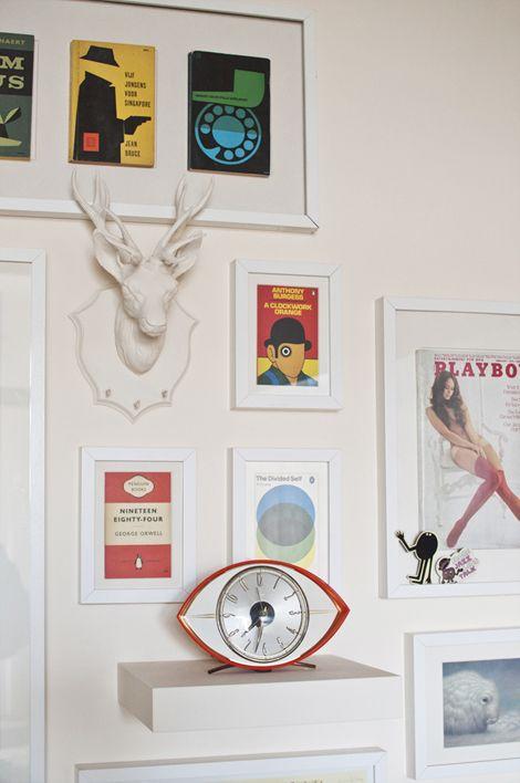 Een keukenmuur vol kaders / www.woonblog.be