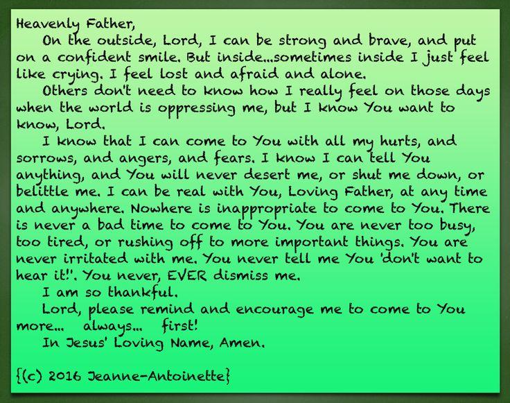 #Prayer #RestInGod Prayer by Jeanne-Antoinette