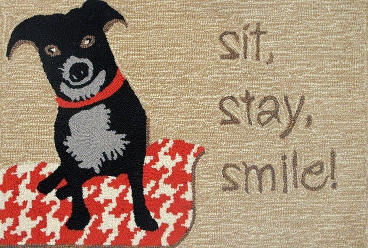"""Frontporch Smile Neutral Door Mat.Contructed of a 20% polyester/80% acrylic blend.Hand tufted with a .375"""" pile height.Ideal for indoor/outdoor use.UV stabilized to minimize fading.Easy to clean with mild soap and water.Designed by Liora Manne.Free Standard Shipping! Size Options:Large (30 in. Wide x 48 in. Long)Medium (24 in. Wide x 36 in. Long)Small (20 in. Wide x 30 in. Long) Price $39.99"""