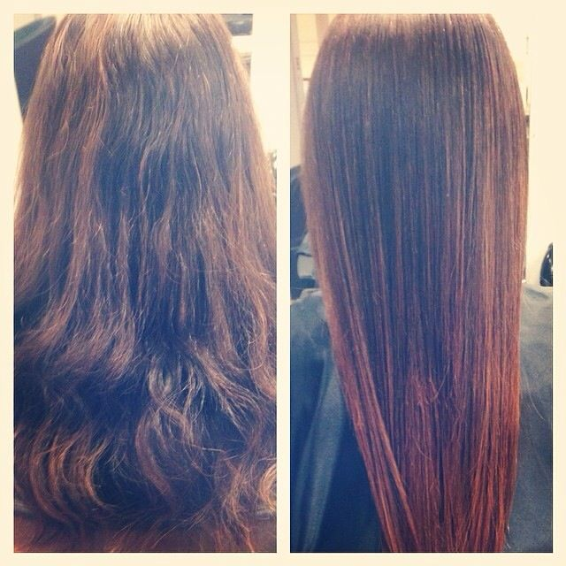 From brown to brown and copper ombré Hair by Frank