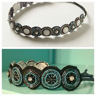 Diy Anthropologie inspired beaded headband: I am literally in love with this