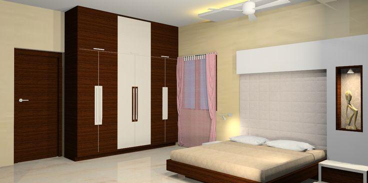 Interesting Simple Bedroom Design Ideas With Nice Wardrobe Closet    DecoraThink | Home And Decor | Pinterest | Simple Bedroom Design, Bedrooms  And White ...