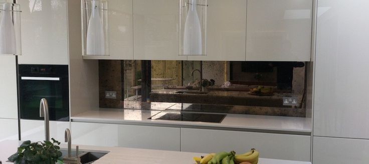 Tinted Mirror Splashback Google Search Kitchens