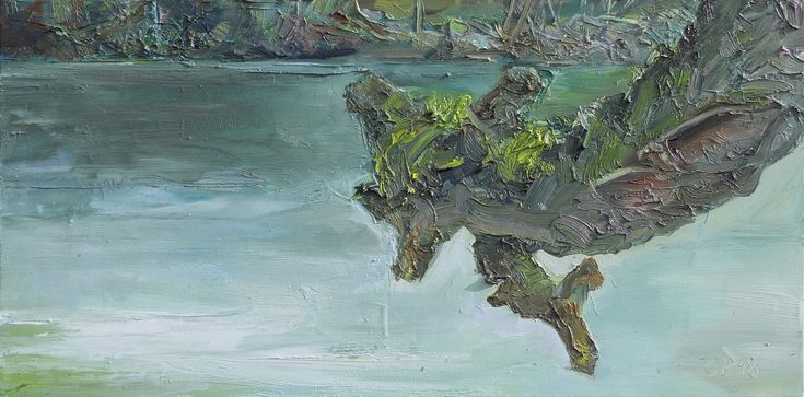 A Branch above the Water, oil on canvas