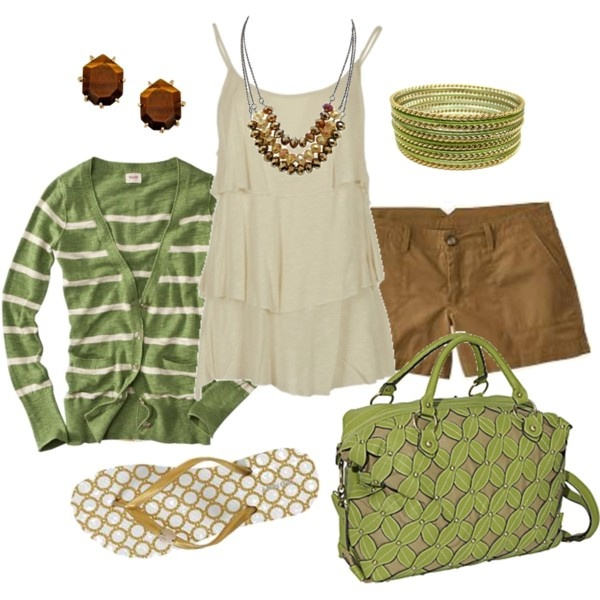 summer: Summer Dresses, Casual Outfit, Summer Outfit, Green And Brown, Dreams Closet, Casual Summer, Color Combos, Earth Tones, The Cardigans
