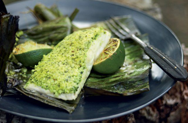 Indian-spiced barbecue fish in banana leaves (gluten free) from Pete Evans | Nourish magazine Australia