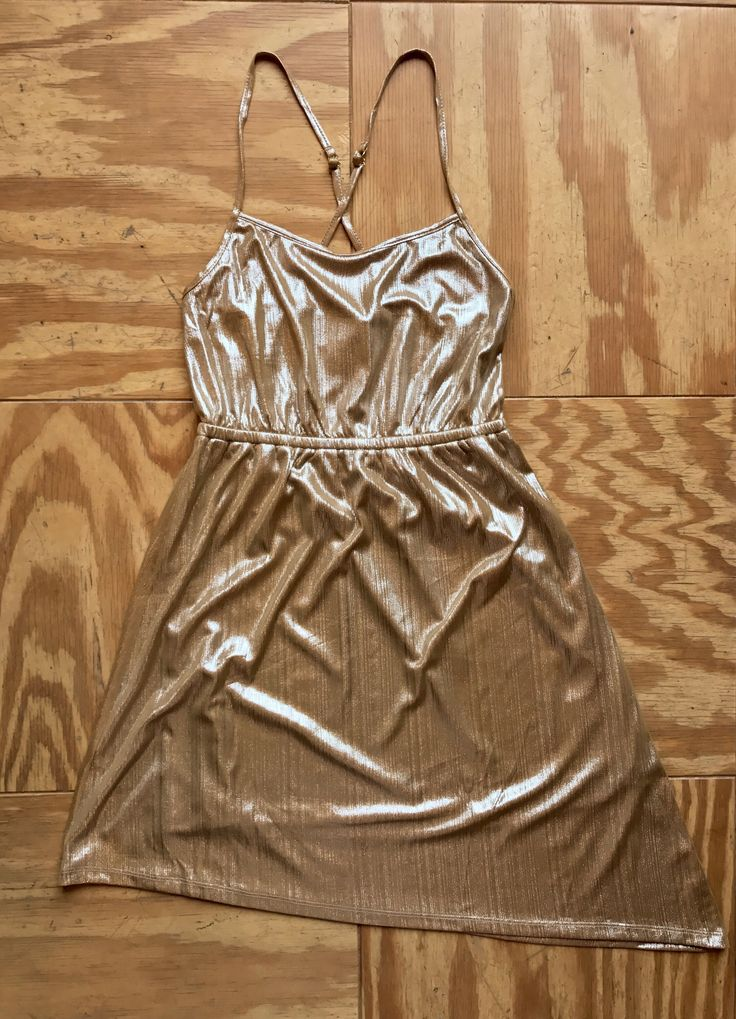 Taupe Gold 70s-esque Sadie Robertson Dress