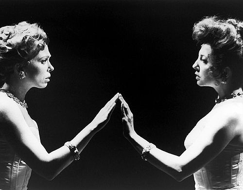 Carolee Carmello and Donna Murphy in off-Broadway's Hello Again (1993).