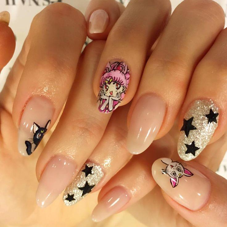 26 Impossible Japanese Nail Art Designs: Best 25+ Sailor Moon Nails Ideas On Pinterest