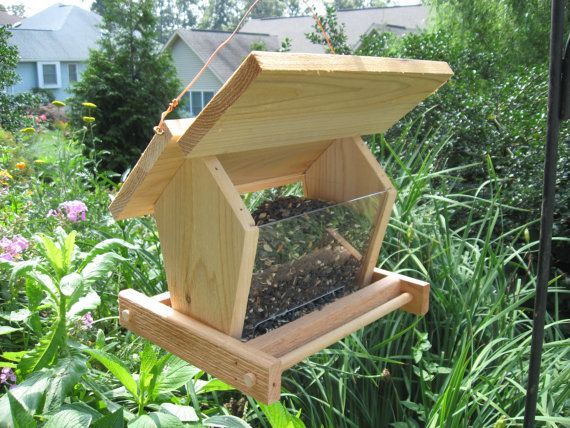 Bird Feeder With See Through Hopper | Outdoor Space | Bird Feeders, Birds,  Bird Houses