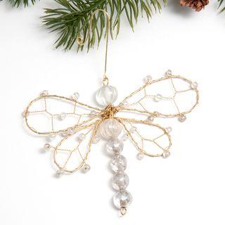 Beaded Dragonfly Ornament (India)