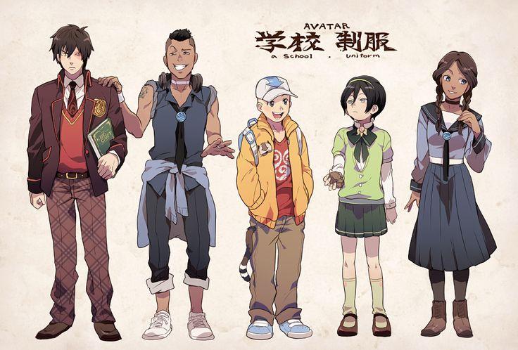 Zuko, Sokka, Aang, Toph, and Katara - Avatar
