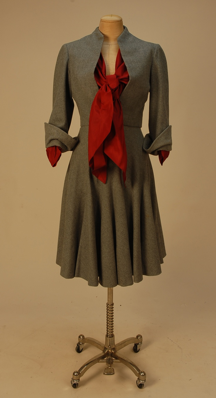 Vintage grey and red Dior Suit (Repinned)