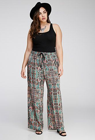 Abstract Tribal Print Pants | Forever 21 PLUS | #f21plus