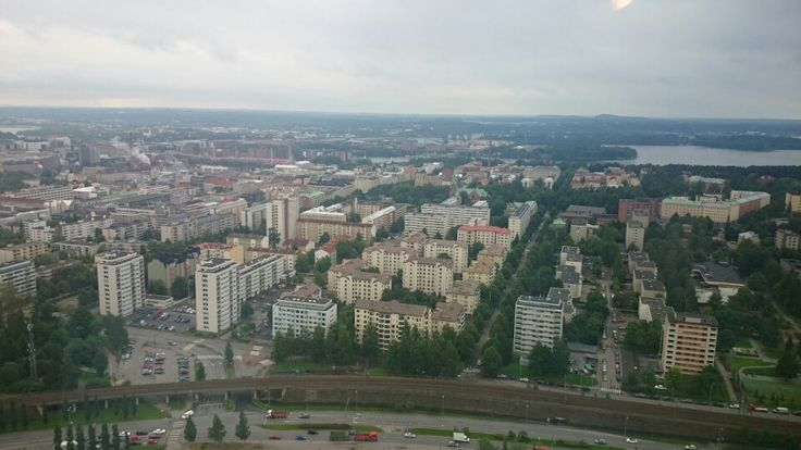 Overlooking the city of Tampere, Finland.