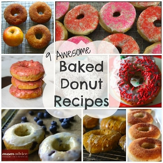 Nine awesome baked donut recipes from MomAdvice.com