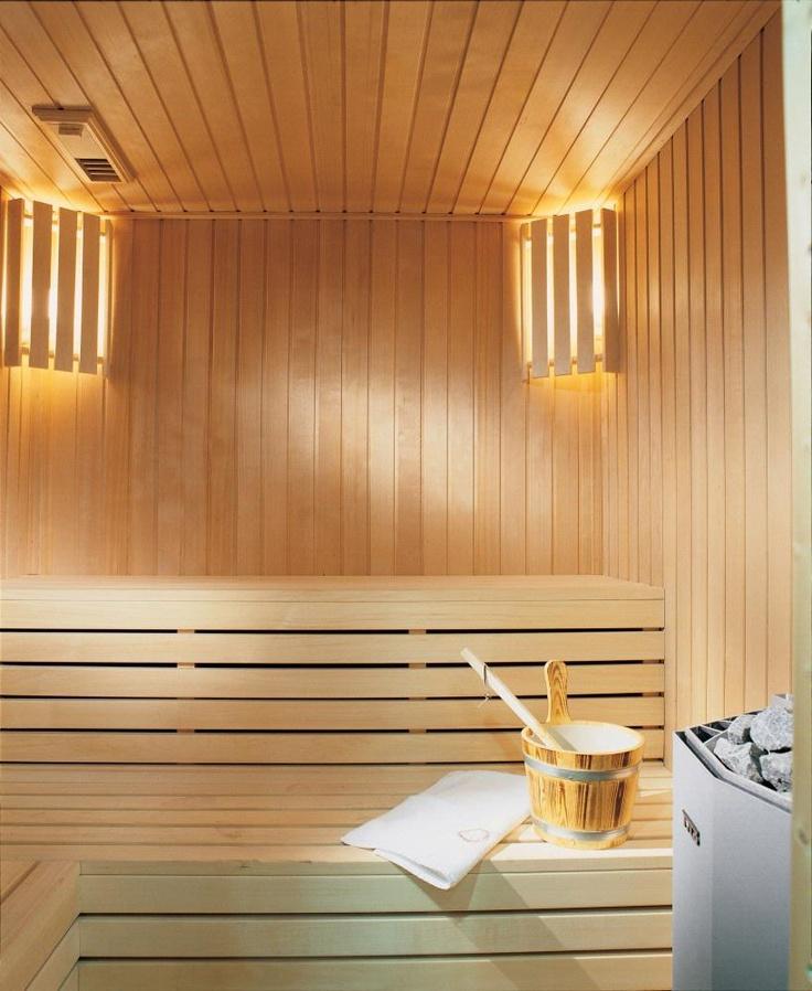 Comfortable home sauna room