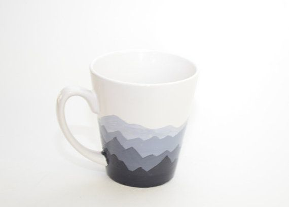This mug is perfect for someone who wants to sip their morning coffee and enjoy a view of the mountains. Would be a great Father's day gift too.