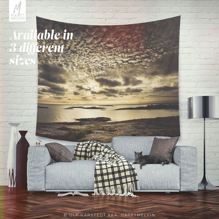 Decorate your wall with this beautiful, popular and unique wall tapestries by HappyMelvin.  Wall tapestries that feature the original photography and graphics by Ulf Härstedt aka. HappyMelvin. Almost all tapestries are trying to capture the feel of adventure, wanderlust and the beauty of our nature. Trying to bring wanderlust into our homes with beautiful home decor.  Available in three sizes, light weight, easy to hang(small pins is enough due to it´s light weight).  - available three sizes…
