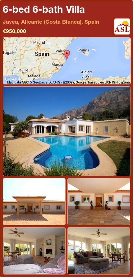 6-bed 6-bath Villa in Javea, Alicante (Costa Blanca), Spain ►€950,000 #PropertyForSaleInSpain