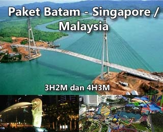 Batam - Singapore / Malaysia Tour 3D2N or 4D2N. Package tour is valid until December 2012. Including GA flight ticket from Jakarta and accommodation during tour.