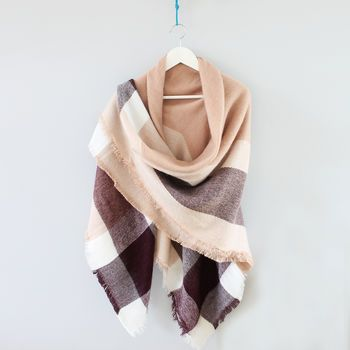Check Blanket Scarf Shawl
