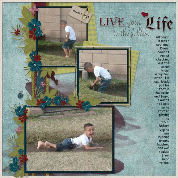 made using Live Life by Art For Scrapbooking