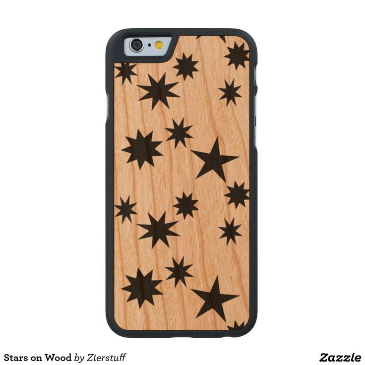 Stars on Wood Carved® Cherry iPhone 6 Case