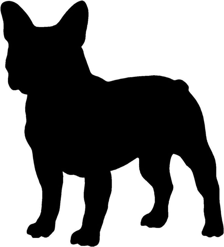 Details about FRENCH BULLDOG SILHOUETTE STICKER, VINYL ...